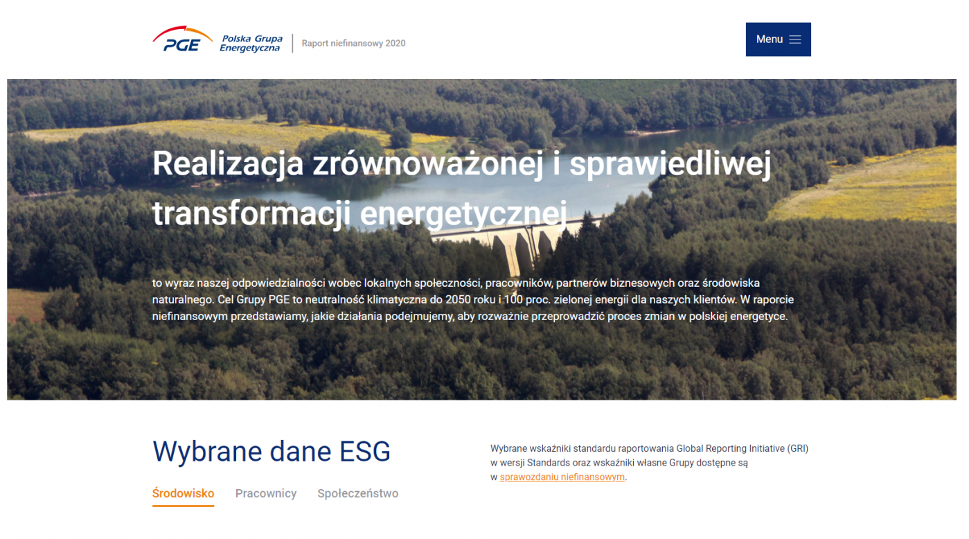 Raport Niefinansowy PGE 2020