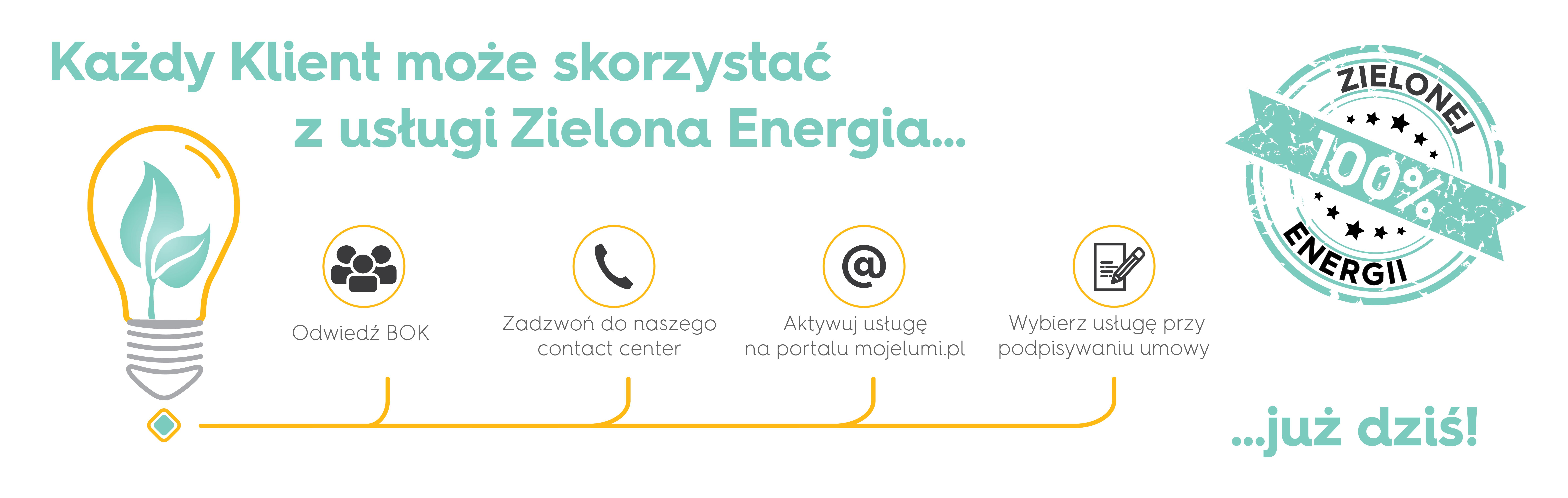 Każdy klient może skorzystać z usługi Zielona Energia