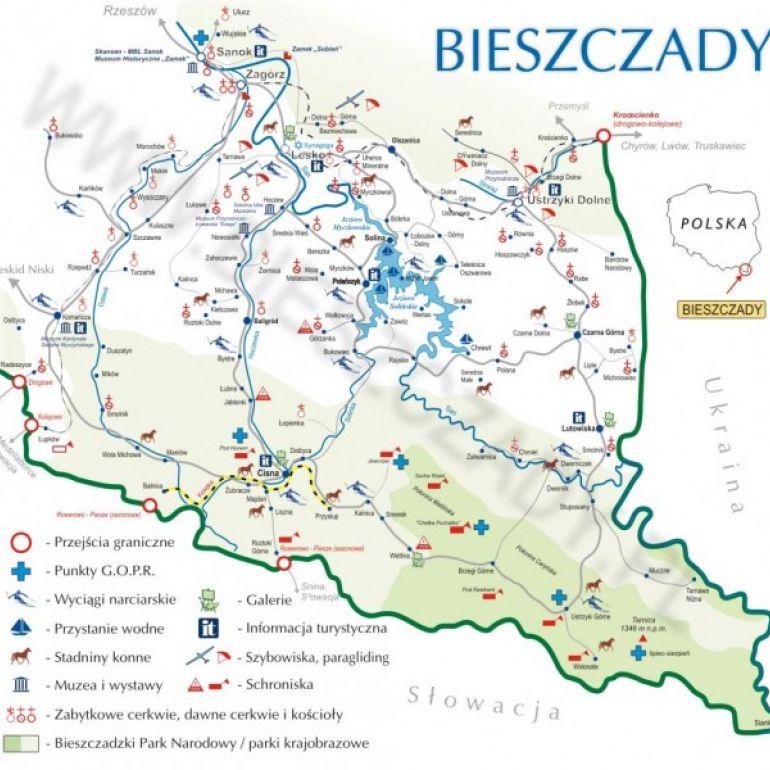 Wirtualna Mapa Gminy Solina Gmina Solina